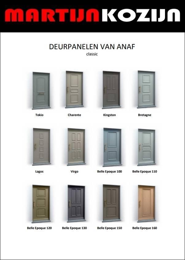 Voordeurpanelen ANAF
